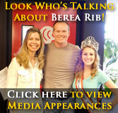 Click here to view a gallery of pics from our media appearances leading up to the 2016 Berea's National Rib Cook-Off